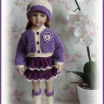 Комплект одежды для кукол ростом от 40 см