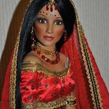 "Кукла фарфоровая ""Невеста Индианка"""