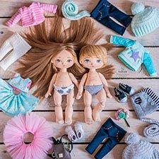 Парочка кукол от Наташи Исенбаевой. Или о том, как они родились в мой день рождениия