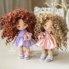 Две кудряшки. Текстильные куколки от Наташи Исенбаевой