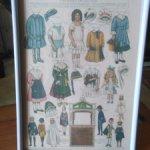 Постер антикварной кукольной тематики