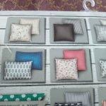 Интерьерные подушки счастье в полосочку