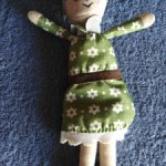 Бабушка мягконабивная куколка для куколки