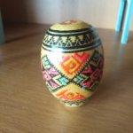 Яйцо деревянное Писанка ручная роспись для кукольных фотосессий