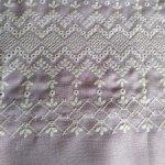 Винтажный лен с шитьем