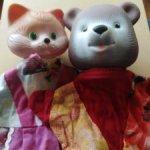 Две винтажных пальчиковых куклы