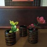 Маленькие керамические кие вазочки для кукольного интерера