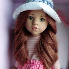 Роскошная Лаура Готц Gotz.С новым цветом волос! Серо-зеленые живые глазки.