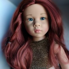 Яркий огонёк Катарина с большими серо-голубыми живыми глазками. Готц Gotz.