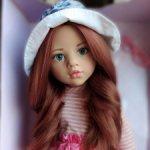 Шикарная Лаура Готц Gotz.С новым цветом волос! Серо-голубые живые глазки.