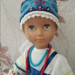 Костюм боярышни для куклы Настеньки СССР (ростом 76 см)