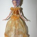 золотое новогоднее платье для fashion royalty 12''