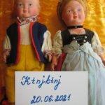 Куклы пара Винтажные Германия в национальной одежде