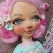 Малышка Луиза - маленькая текстильная зефиринка