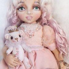 Текстильные куколки с объемным лицом, коллекция Бантики Цветочки