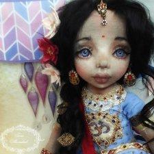 Текстильные куколки с объемным личиком. 2018