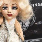 Монро, авторская портретная кукла