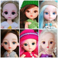Baboliy маленькие шарнирные куклы с заменой глазок, ООАК