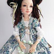 Авторская кукла Лианы Каримовой Девочка с яблоками