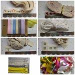 Ткани, тесьма, наклейки, колодки, подвески