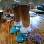 Носочки для больших куклодеток.