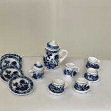 Миниатюрный, керамический, чайный сервиз для кукол, ростом 16-22см