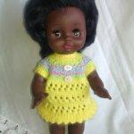 Кукла ГДР пухлик Бигги негритянка