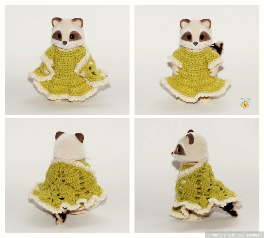 Комплект в деревенском стиле. Платье и шаль выполненные очень тонким инструментом :)