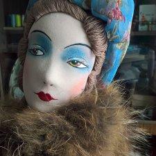 Будуарная (интерьерная) кукла своими руками. 3 часть