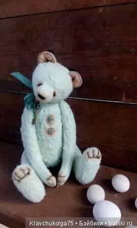 Тедди мишка мятный