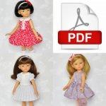 Выкройка платья в формате PDF для кукол Паола Рейна.