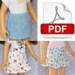 Выкройка юбки в формате PDF для кукол Паола Рейна.