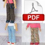 Выкройка брюк в формате PDF для кукол Паола Рейна.