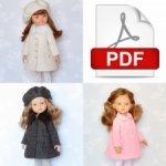 Выкройка пальто в формате PDF для кукол Паола Рейна.