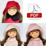 Выкройка шляпки  и берета в формате PDF для кукол Паола Рейна.