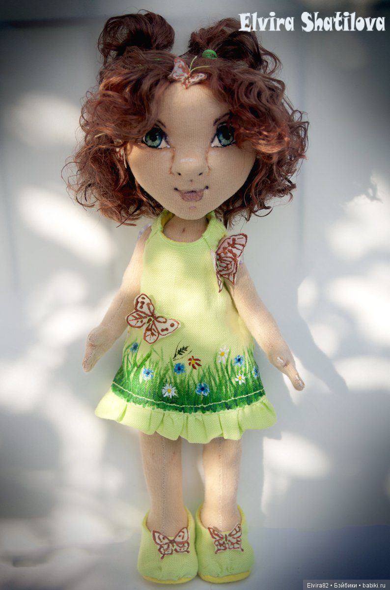 Настроение бабочка (Текстильная кукла)