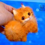 Котенок мейн-кун. Рыжий.