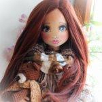 Текстильная авторская интерьерная кукла.