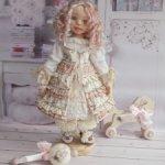 Даша. Текстильная интерьерная кукла.