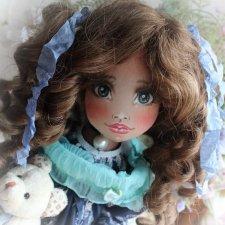 Ксения-текстильная красавица от кукольницы Ирины Лукониной