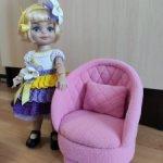 Мягкое кресло для кукол 28-32см