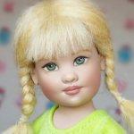 Малышка с косичками Авери Avery от Helen Kish