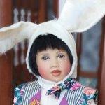 White rabbit in Wonderland, Белый кролик от Хелен Киш, Helen Kish