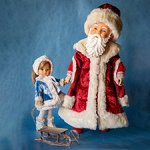 Дед Мороз и Снегурочка. Paola Reina ООАК