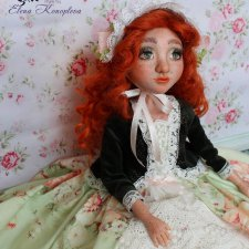 Первая моя куколка в смешанной технике с использованием пластики living doll