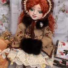 Текстильная куколка Ингрид авторские куклы Елены Коноплёвой