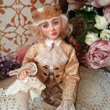 Кукла из запекаемого пластика принц Кристиан. Авторские куклы Елены Коноплёвой