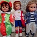 Российские куклы мальчики фабрик Мир кукол и Весна Киров