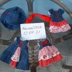 Джинсовые платьишки для девочек Паоло Рейна/Линда Рик (32 см)