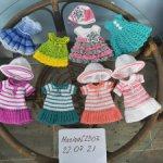 Вязаные платьишки для девочек Паоло Рейна/Линда Рик (32 см)